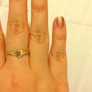 "Topshop ""S"" Ring"